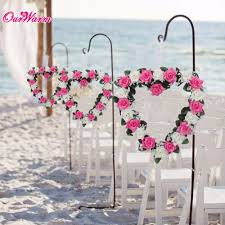 Heart Shaped Rose Wreath Hanging Wreaths Flowers Garland with Silk Ribbon  for Home Door Wall Decor Wedding Car Decoration-in Artificial & Dried  Flowers from ...