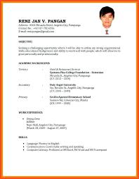 Resume Sample For University Application Resume For Masters