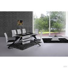 Italian Extendable Dining Table Arctic Black Glass And White High Gloss Extending Dining Table