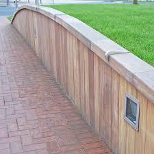 durable hardwood retaining wall system garden landscaping anti skateboard