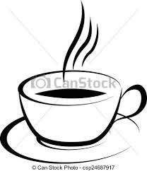 coffee cup vector black and white. Fine Vector Coffee Cup  Csp24687917 Throughout Coffee Cup Vector Black And White