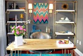 eclectic design home office. 5 tags contemporary home office with wall sconce carpet grandby acacia live edge 68inch eclectic design r
