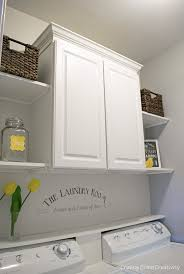 laundry room makeover installing