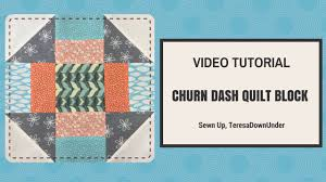 Quick and easy churn dash quilt block video tutorial - YouTube &  Adamdwight.com