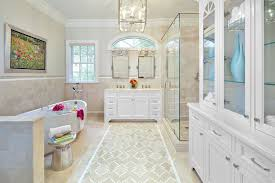 traditional master bathroom designs. traditional master bathroom with metropolitan pivoting mirror [large], sophie pattern tile, limestone designs