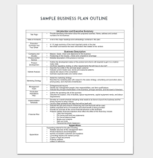 Business Outline Template 20 Free Samples Formats Examples