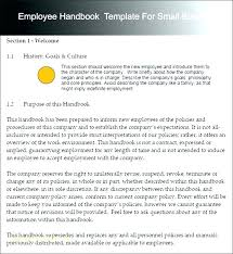 Business Manual Template Business Operations Manual Template Small Free Employee