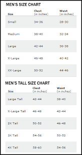 Athletic Apparel Size Chart Born Athlete Athletic Apparel