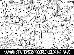 Kawaii Food Coloring Pages Cute Best Cat Awesome Doodle Page