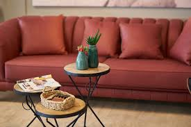 red couch in the living room 15 decor