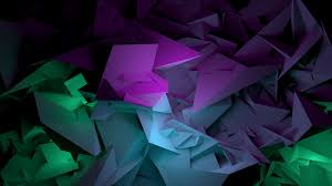 Download Wallpaper 1600x900 Abstract Shapes Purple Green