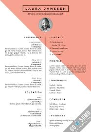 Resume With Photo Template Fascinating CV Resume Template Stockholm