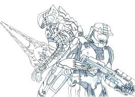 Halo Spartan Coloring Pages Halo Coloring Pages Halo Master Chief