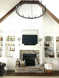 stone fireplace with bookshelves shaker white fireplace brick built bookshelves in bookcases with and beside flanking