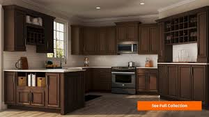 hampton wall kitchen cabinets in cognac