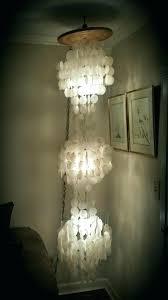 capiz shell chandelier vintage three tier lamp 7 feet antiques in rectangular uk