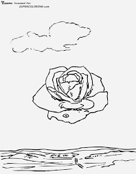 Meditative Rose By Salvador Dali Coloring