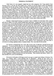 Personal Description Dermatology Personal Statement 3