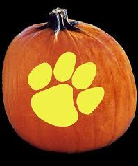 Pumpkin Carving Pattern Best SpookMaster Clemson Tigers College Football Team Pumpkin Carving