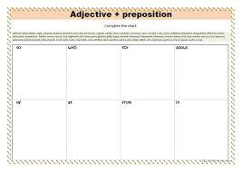 Adjective Preposition English Esl Worksheets