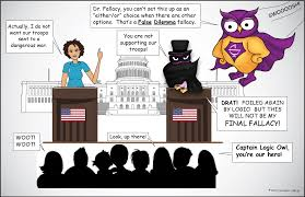 false dilemma fallacy excelsior college owl false dilemma logical fallacy comic the owl superhero