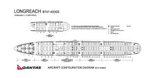 Qantas Boeing 744 Jet Seating Chart Qantas Airlines Boeing 747 400ge Aircraft Seating Chart