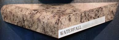waterfall laminate decorative edge