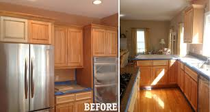 image of painting kitchen cabinets white with glaze