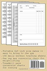Gym Diary Daily Fitness Journal With One Rep Max And