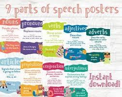 Parts Of Speech Etsy