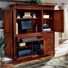 Small computer armoire Cherry Computer Armoire Accommodate Your Need Of Computer Table And Storage Sofasitterscom The Magazine Of Home Ideas Sofasitterscom Computer Armoire Accommodate Your Need Of Computer Table And