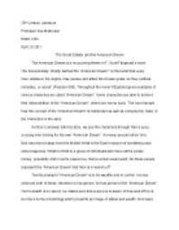 the great gatsby and the american dream university linguistics page 1 zoom in