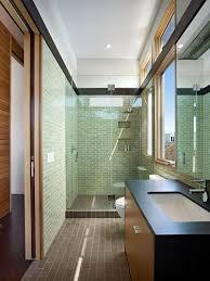 Bathroom Green Wall Tiles Long Narrow Contemporary Bathroom Ideas