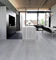 Lovable Modern Hardwood Floors Modern Gray Hardwood Flooring Open Plan  Kitchen Dining Room
