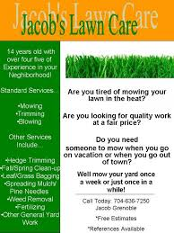 lawncare ad my lawn care flyer what do you think lawnsite