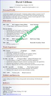 ... Pretty Example Of A Good Resume 8 Examples Of And Bad CVs ...