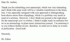 Rejection Letter Sample Delectable How To Write And Read A Manuscript Rejection Letter Scientist