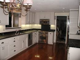Kitchens With White Countertops White Cabinet Dark Countertop