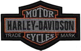 harley davidson black bar shield trade mark patch