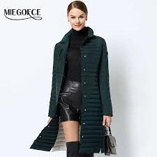Designer Spring Coats Miegofce 2019 Women Cotton Padded Jacket Thin Women Quilted Parkas Long Spring Windproof Womens Spring Jackets Coats New Design