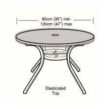 protector 4 6 seater circular table top cover 120cm