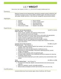 Resume Examples 2018 Customer Service Customer Examples Resume