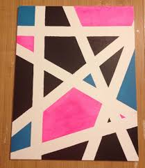 Canvas art. Take a canvas of your choice, some acrylic paint, painters tape