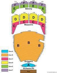 Waitress Seating Chart Seating Chart Picture Of Tulsa Performing Arts Center