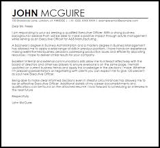 Example Of Executive Cover Letters Executive Officer Cover Letter Sample Cover Letter Templates