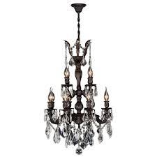worldwide lighting versailles 12 light flemish brass crystal chandelier