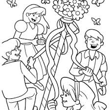Small Picture Three Little Girls Dance May Day Coloring Pages Best Place to Color