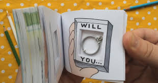 artist creates flipbook animation with ring inside for marriage proposal bored panda