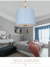 Großhandel Kinderzimmer Schlafzimmer Kronleuchter Modernen Minimalistischen All Kupfer American Boy Mädchen Prinzessin Zimmer Blaue Sterne Von