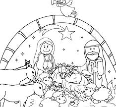 Free Nativity Scene Coloring Pages Free Printable Nativity Scene